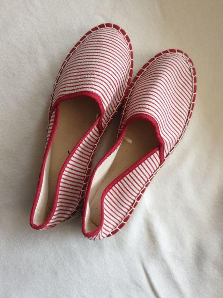 Buty espadryle czerwone 39