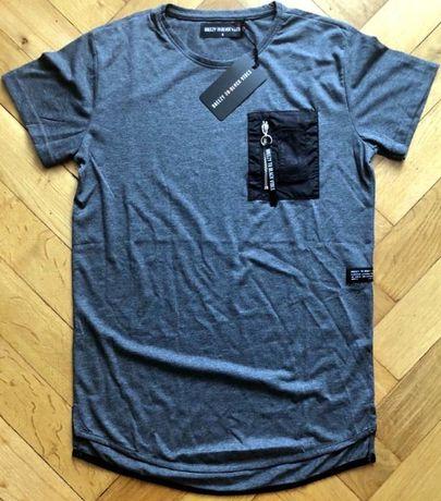 Nowy modny t-shirt (S) - BREEZY TO BLACK VIBES