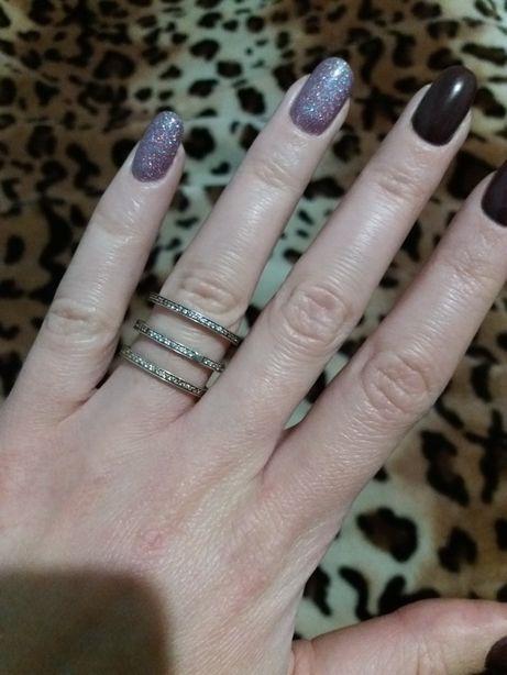 Кольцо серебряное + позолота