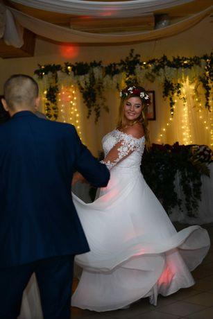 Suknia ślubna, gipiura