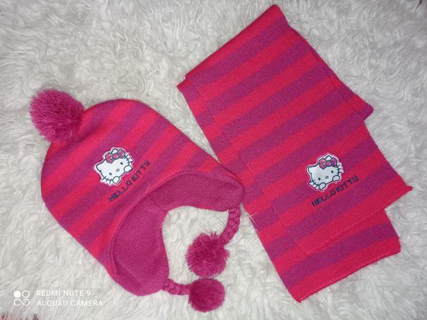 Zestaw zimowy czapka szalik Hello Kitty 3-6lat