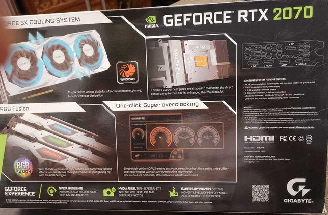 Placa grafica rtx 2070 oc gigabyte