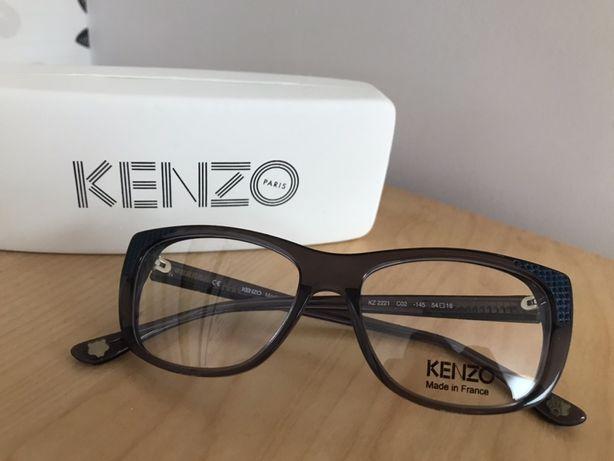 Kenzo oprawki granat oryginalne granatowe okulary