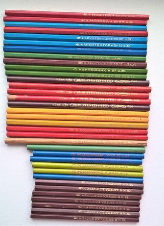 карандаши СССР простые/цветные