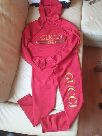 Zestaw dresy getry i bluza z kapturem Gucci rozmiar M-L