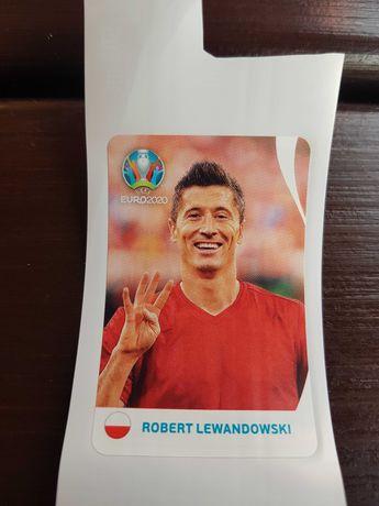 Naklejka Robert Lewandowski Euro 2020 Coca- cola