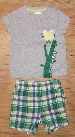 Koszulka bluzka + spodenki - rozm. 74