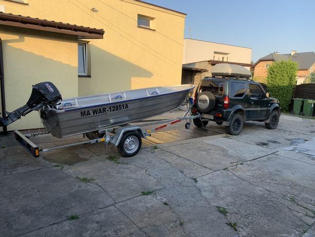 Łódka wędkarska aluminiowa