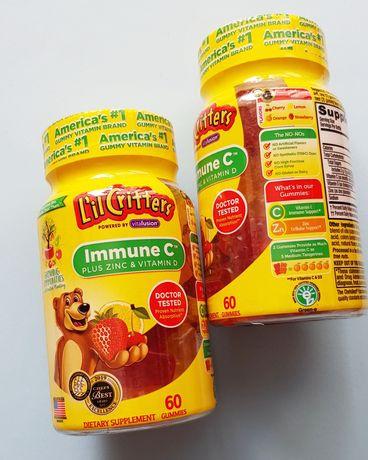 Lil Critters, Immune C плюс цинк и витамин D, 60 жевательных таблеток