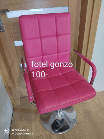 Fotel różowy ekoskora gonzo