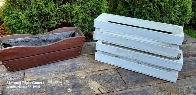 Doniczki drewniane 60cm 3sztuki okazyjnie