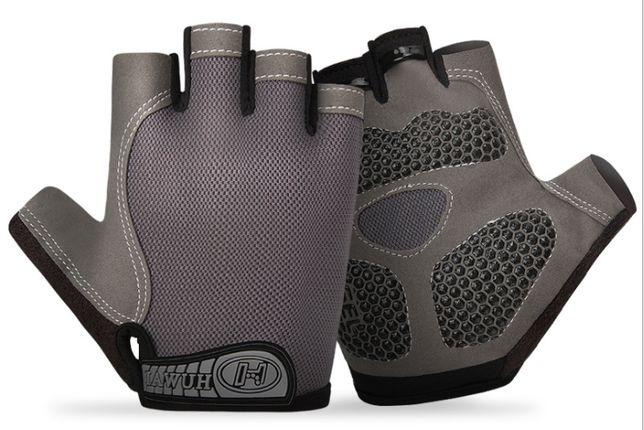 Перчатки велосипедные, велоперчатки, для спорта и фитнеса, нескользящ