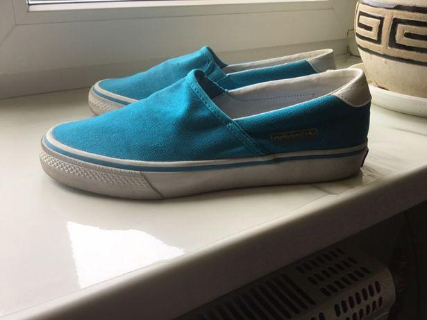 Мокасины Adidas для подростка стелька 25см
