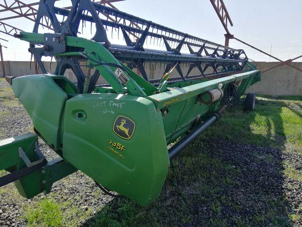 Жатка John Deere 35F HydraFlex 10,7м. с тележкой соя зерно комбайн