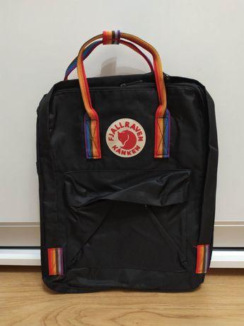 Школьный рюкзак kanken канкен ранец rainbow черный радужне ручки сумка