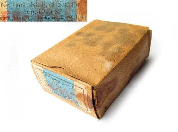 РЕЙХ картонная коробка упаковка Маузер Mauser 1940 года.