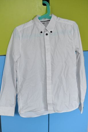 biała koszula HM 128/134 na długi rękaw