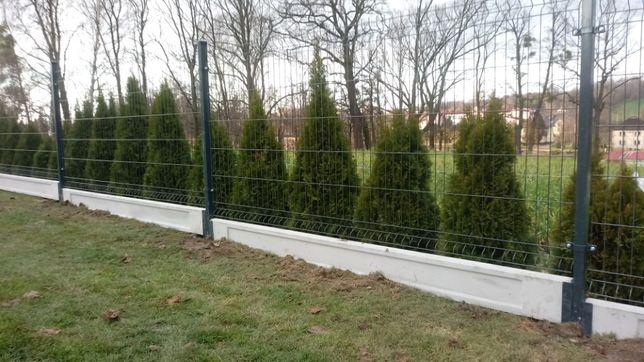Panel ogrodzeniowy ogrodzenia montaż w cenie drut 4 z podmurówka