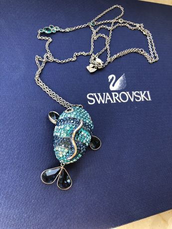 Długi wisiorek rybka Swarovski oryginalna