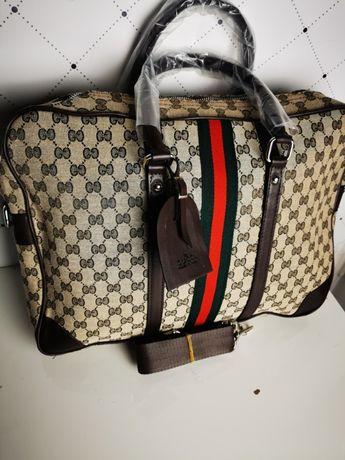 Torba neseser walizka teczka aktówka na laptopa gucci jasna Premium