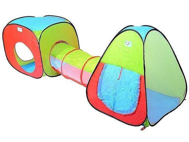 Палатка игровая детская с тоннелем 4 входа