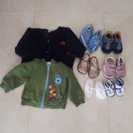 Lote de roupa de bebê dos 0-12 meses