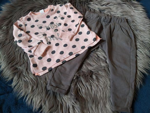 Zestaw bluzka plus spodnie rozmiar 86