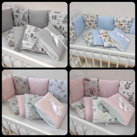 Бортики подушки в кроватку / 12шт. на 4-ре стороны
