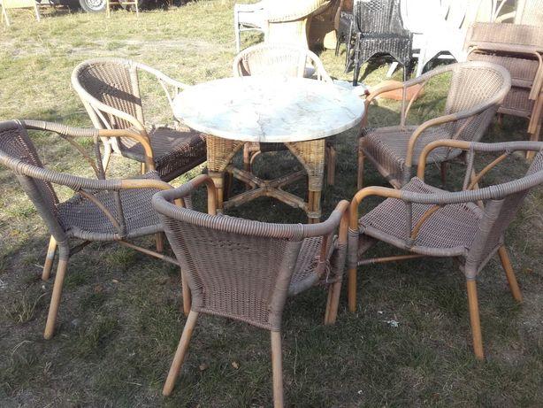 wygodne fotele techno rattanowe z aluminiową konstrukcją
