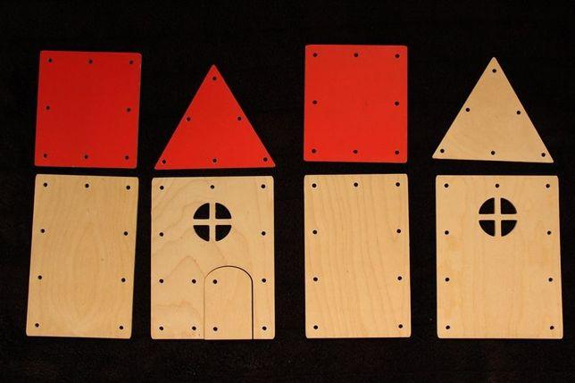 Domek drewniany do nauki wiązania :)