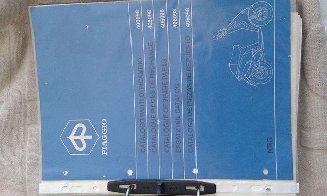 Vespa catálogos, PK50, Ape 50, NRG