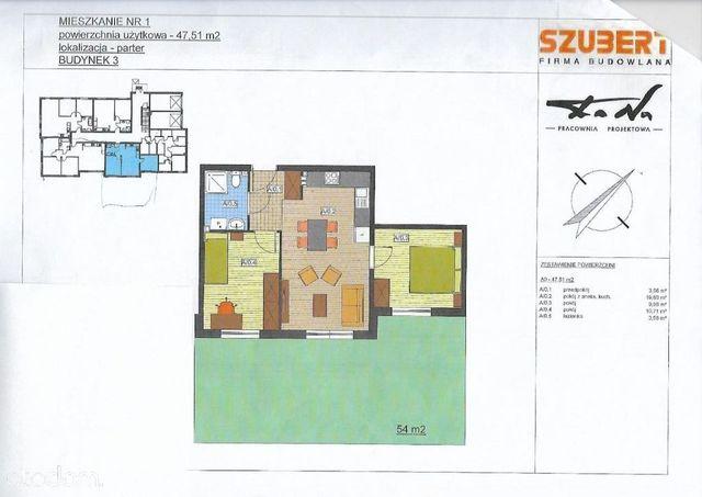 Odstąpię rezerwację 2 pokoje, 47,51 m2 z ogródkiem