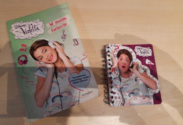 Książka I notatnik z Violetty