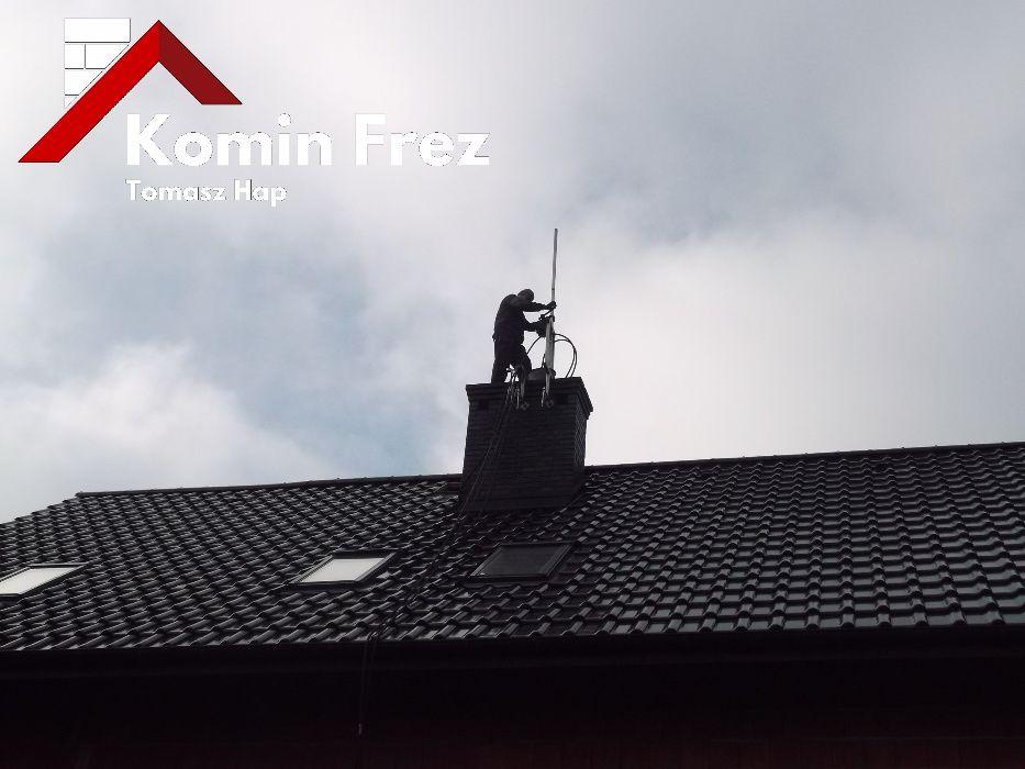 Frezowanie uszczelnianie kominów wkłady kominowe kwasoodporne ceramika Wodzisław Śląski - image 1