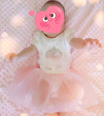 Комплект для маленькой принцессы(Бодик, юбка, ободок на голову)