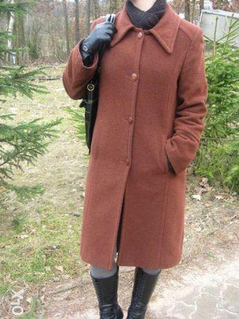 płaszcz rozm.38-40 wełniany rudy markowy jesienny klasyczny TANIO