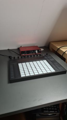 Ableton Live 9 suite + Ableton push 2 + odsłuchy Focal + karta