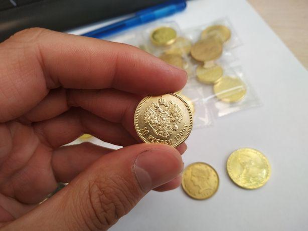 Золотые монеты разных царей