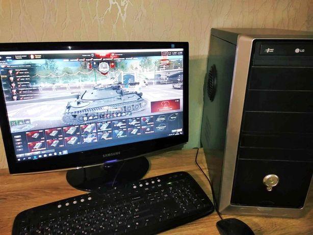 Срочно торг Игровой 4 ядерный компьютер с SSD MLS Монитор SAMSUNG 22