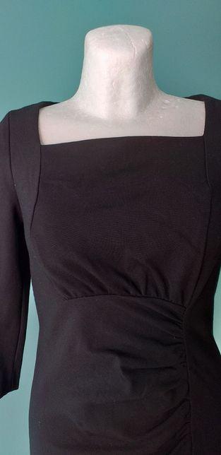 Sukienka dzianinowa czarna M/L dopasowana