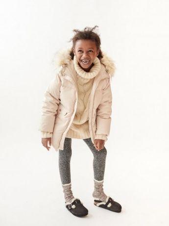 Пуховик куртка Zara на девочку 9-12 лет