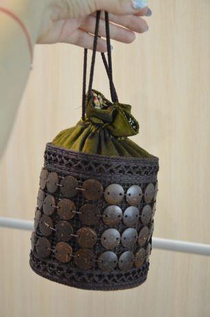 Оригінальний клатч з бамбука