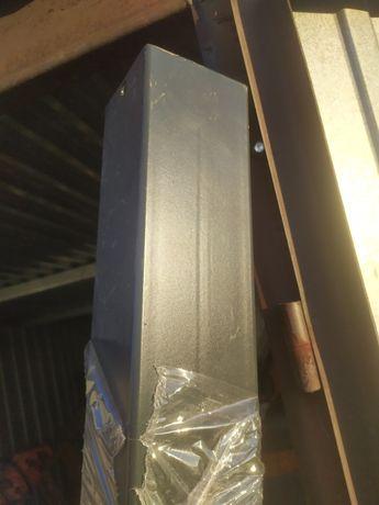 Słupek antracyt 80x80x3 do bramy furtki ogrodzenia