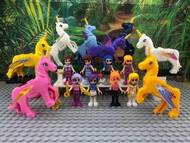 klocki figurki elfy Jednorożce Unicorn 16 szt! super jakość