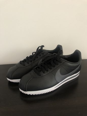 Czarne skórzane Nike Classic Cortez Leather 40.5 25,5 cm