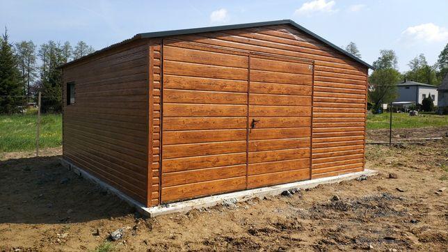 Promocja!!Garaz blaszany 5x6 PROFIL Ral brama uchylna okno 6x6 4x5 4x6