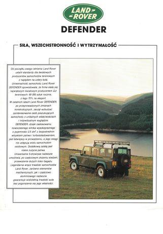 Land Rover Defender prospekt/ulotka