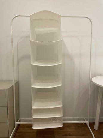 Ikea SKUBB wisząca półka wkład do szafy biały