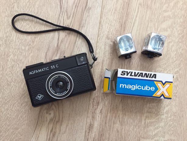 Máquina fotográfica AGFA antiga + Flashes