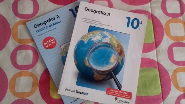 Manual de Geografia A 10ºano - Santillana
